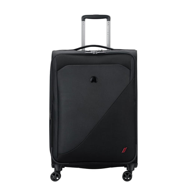 Delsey New destination 68cm 4 Double Wheels Expandable Trolley Case | Black - KaryKase