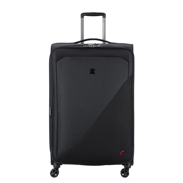 Delsey New destination 78cm 4 Double Wheels Expandable Trolley Case | black