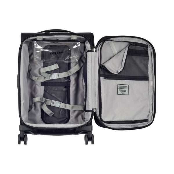 Delsey Pilot WW5 55cm 4 Double Wheels Trolley Case |  Black