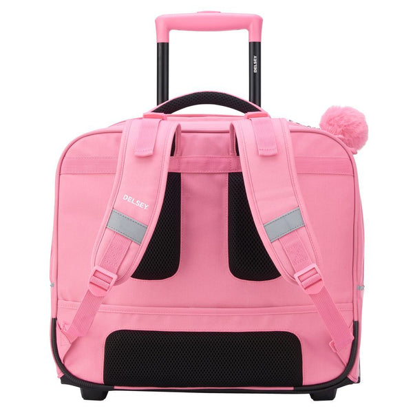 Delsey Back to School Horizontal Wheeled Backpack | Peony - KaryKase