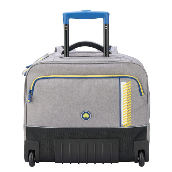 Delsey Back to School Horizontal Wheeled Backpack | Grey - KaryKase