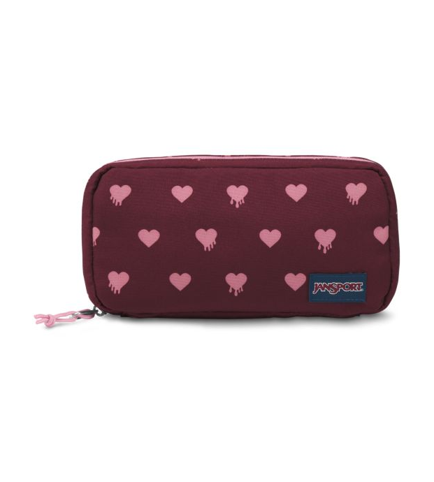 Jansport Pixel Accessory Pouch | Russet Red Bleeding Hearts - KaryKase