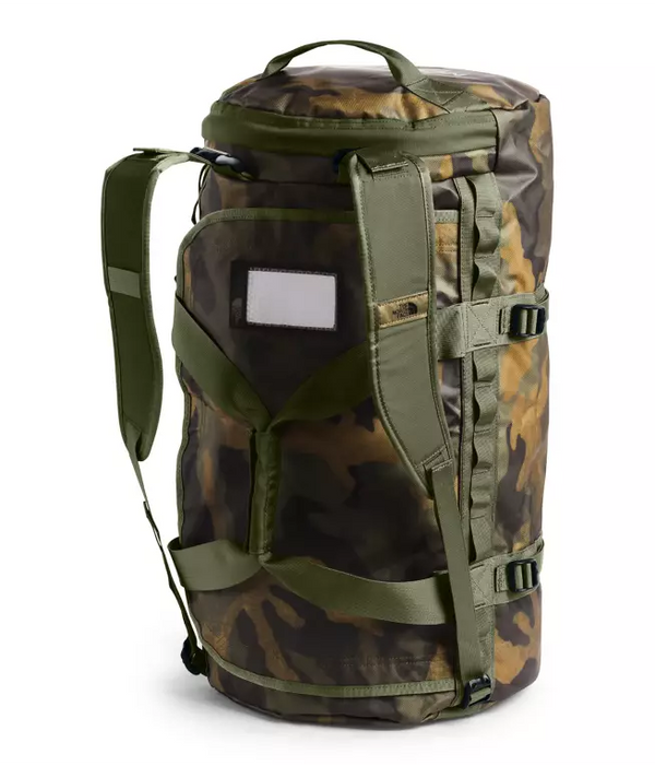 The North Face Base Camp 71L Duffel (Medium) | Burnt Olive Green Waxed Camo Print / Burnt Oliver Green - KaryKase