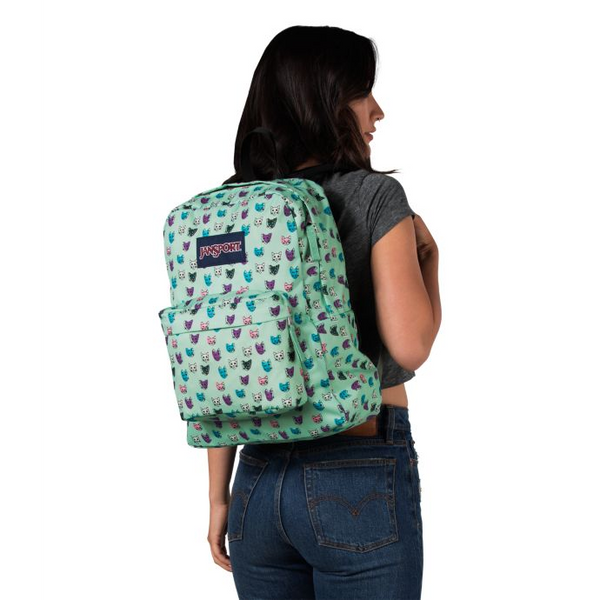 Jansport SuperBreak® Backpack | Brook Green Cool Cats - KaryKase