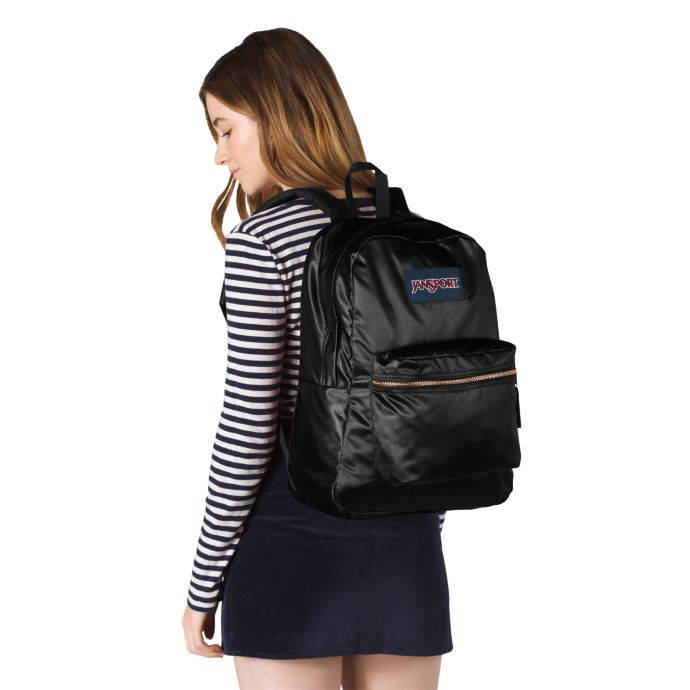 Jansport High Stakes Backpack | Black/Gold - KaryKase