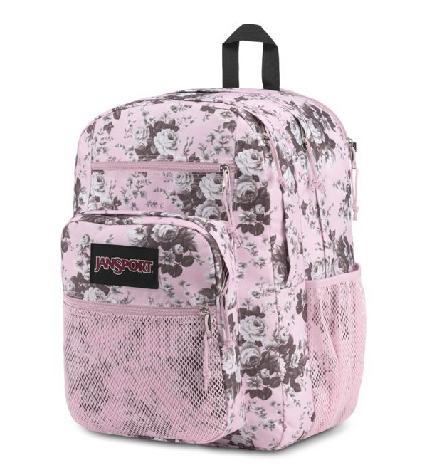 Jansport Big Campus Backpack | Pink Antique Floral - KaryKase