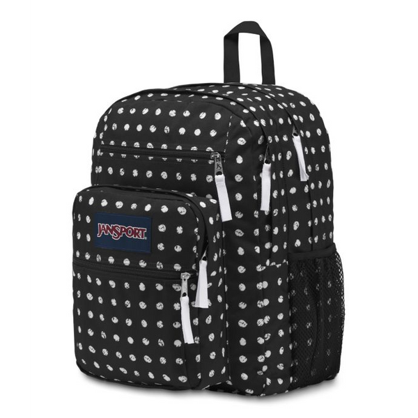 Jansport Big Student Backpack | Black Sketch Dot - KaryKase