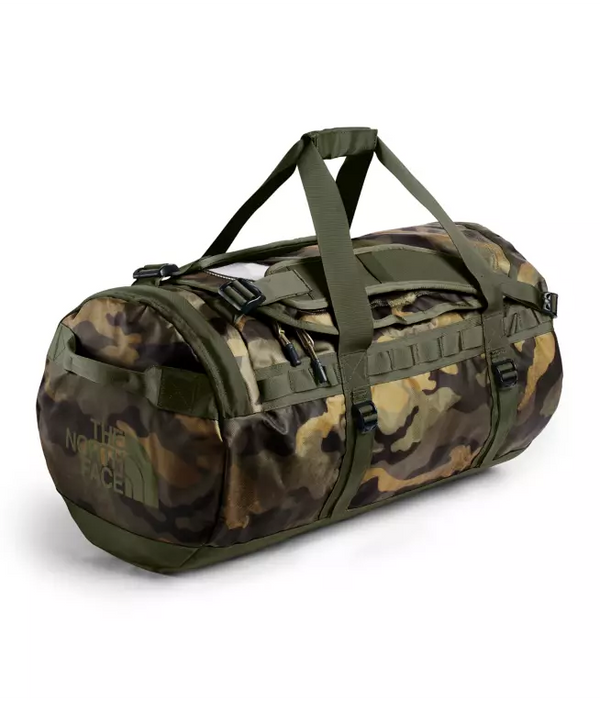 The North Face Base Camp 71L Duffel (Medium) | Burnt Olive Green Waxed Camo Print / Burnt Oliver Green