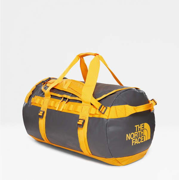 The North Face Base Camp 71L Duffel (Medium) | Asphalt Grey / Zinnia Orange