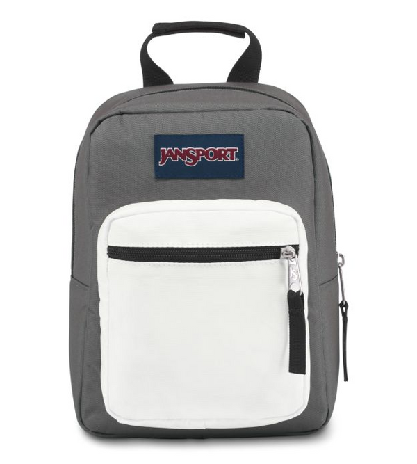 Jansport Big Break Lunch Bag | Shady Grey/White - KaryKase