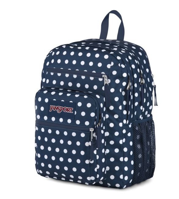 Jansport Big Student Backpack | Dark Denim Polka Dot - KaryKase