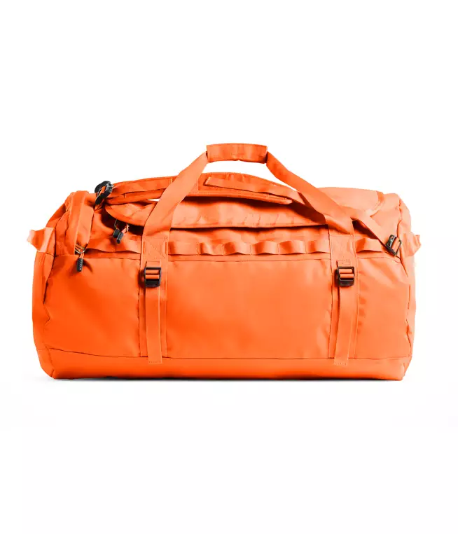 The North Face Base Camp 95L Duffel (Large) | Acrylic Orange / Picante Red - KaryKase