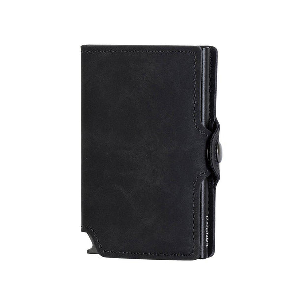 EaziCard RFID PU Leather Vintage Pattern Wallet | Black/Black - KaryKase