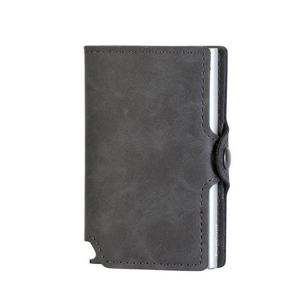 EaziCard RFID PU Leather Vintage Pattern Wallet | Grey/Silver - KaryKase