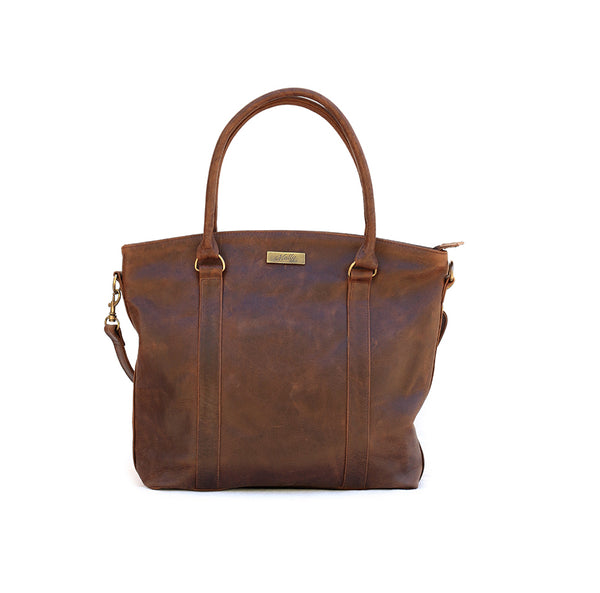Mally Emma Leather Handbag | Brown - KaryKase