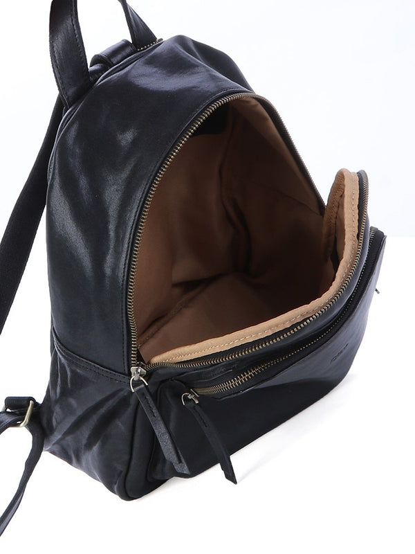 Polo Naples Leather Backpack | Black