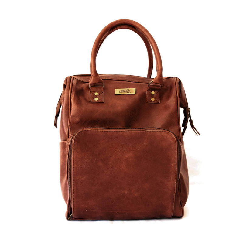 Mally Multipurpose Leather Backpack | Brown