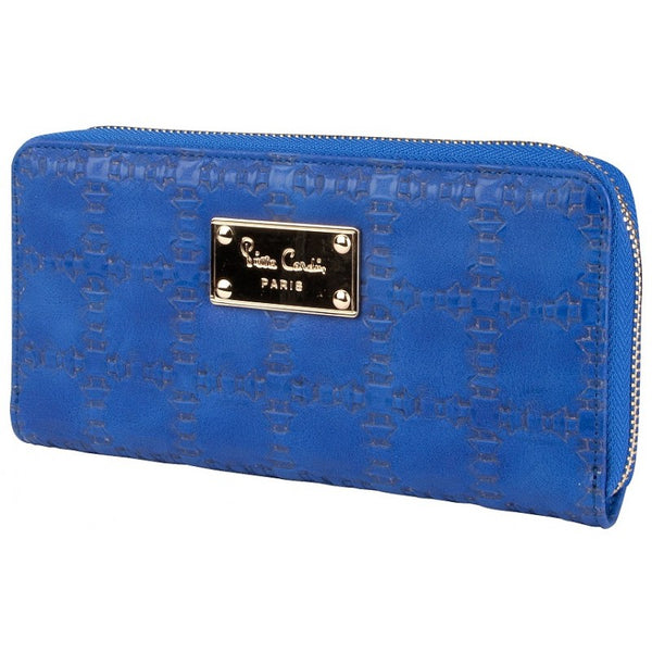 Pierre Cardin Gianna Zip Around Purse | Royal Blue - KaryKase