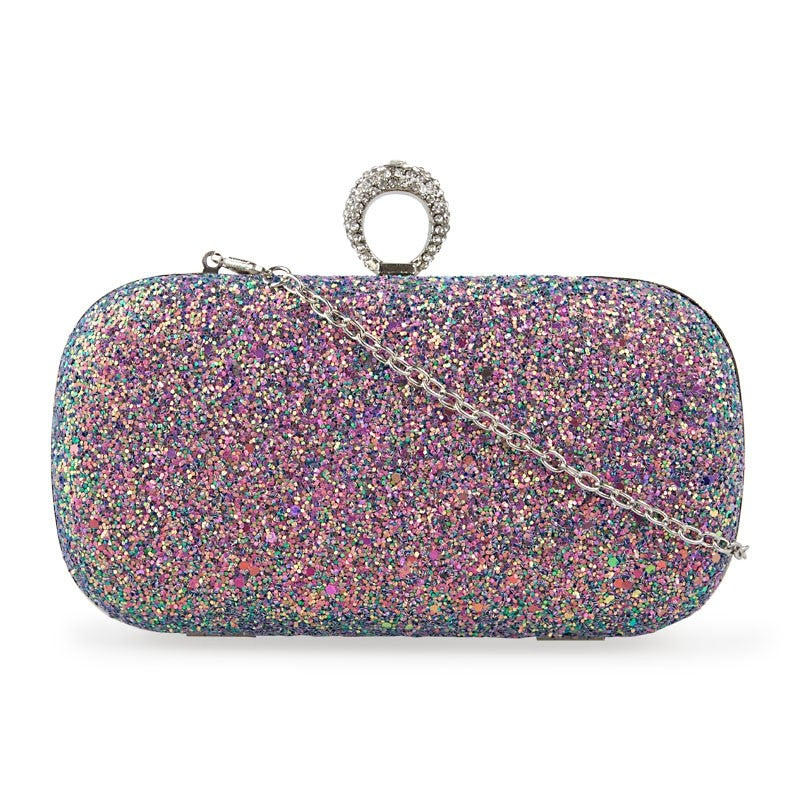 Tessa Design Glitter Clutch Bag - KaryKase
