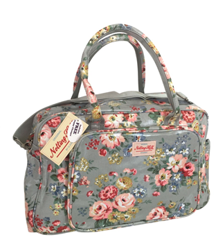 Notting Hill Large Pocket Nappy Bag | Grey Floral - KaryKase