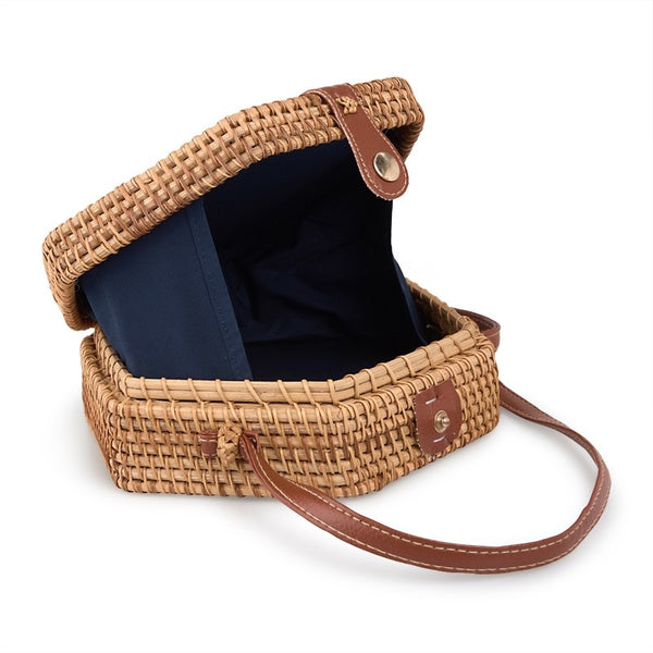 Tessa Design Hexagonal Wicker Bag - KaryKase