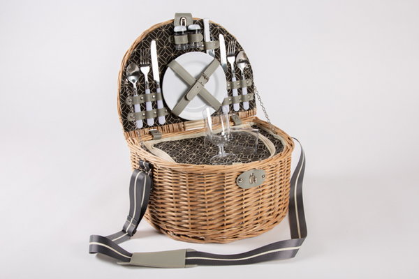 Yuppie Gift Baskets Moonlight Picnic Basket (2 Persons) - KaryKase