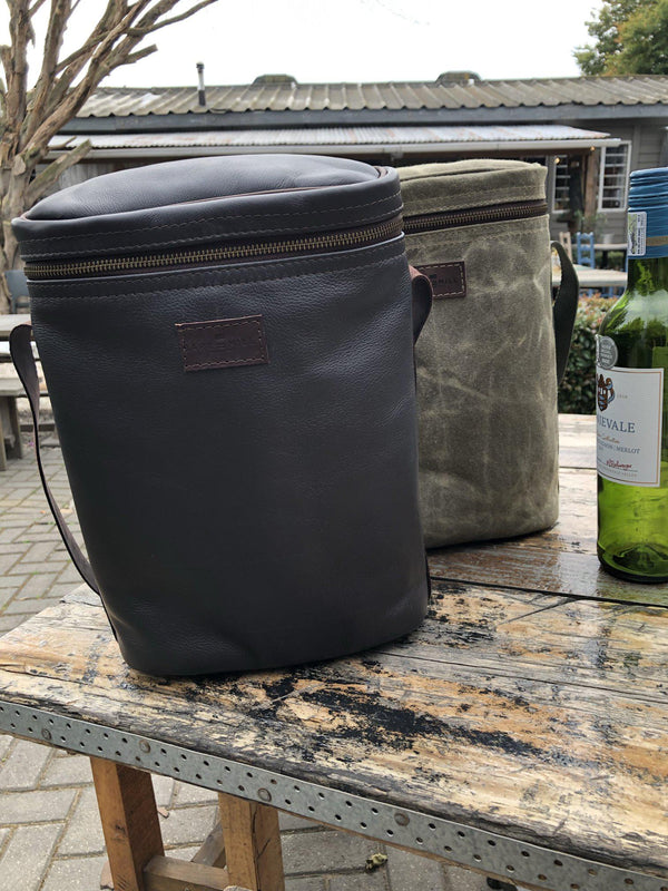 Bark And Mill Leather Wine Cooler - KaryKase