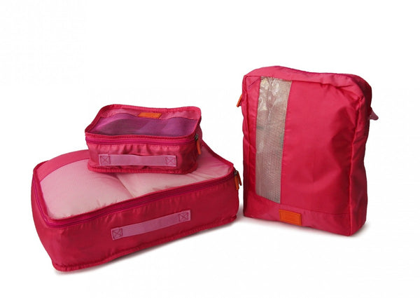 Medoodi 7pc Travel Organiser Set | Pink