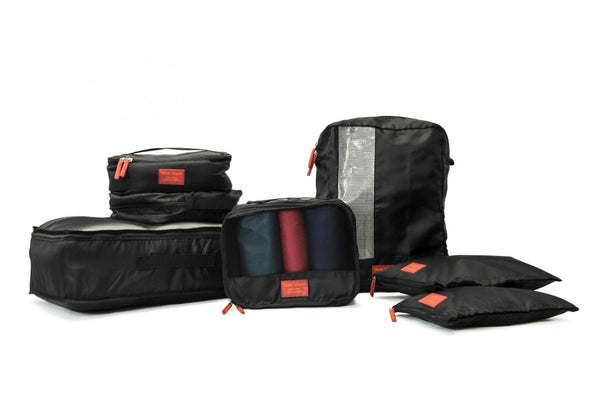 Medoodi 7pc Travel Organiser Set | Black