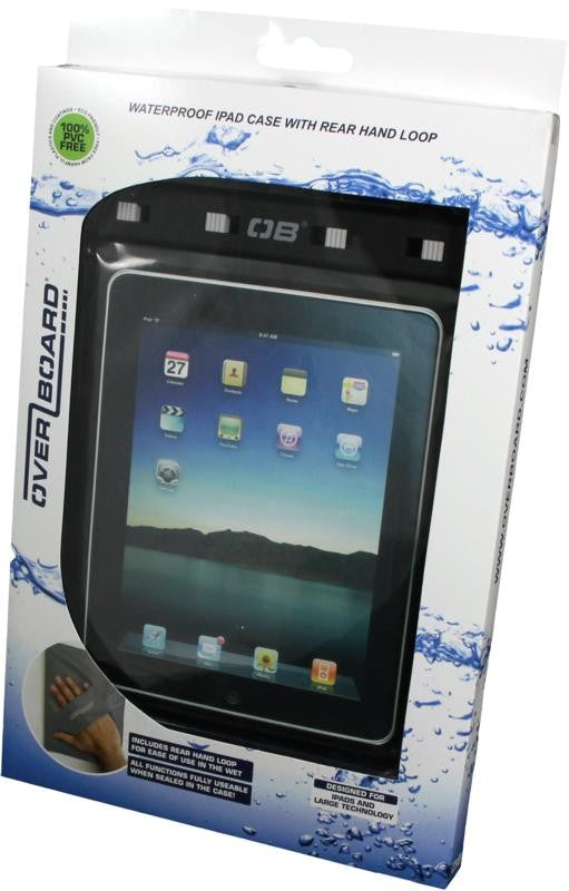 OverBoard Waterproof iPad Case with Shoulder Strap | Black - KaryKase