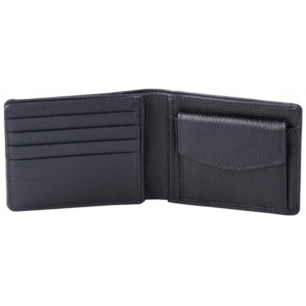 Pierre Cardin Dennis Leather Wallet With Coin Pouch | Black - KaryKase