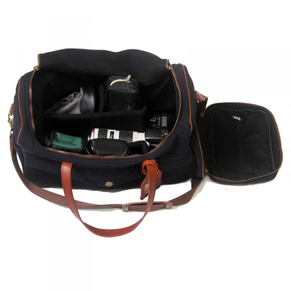 Melvill & Moon Canvas Kilimanjaro Camera Bag | Black - KaryKase