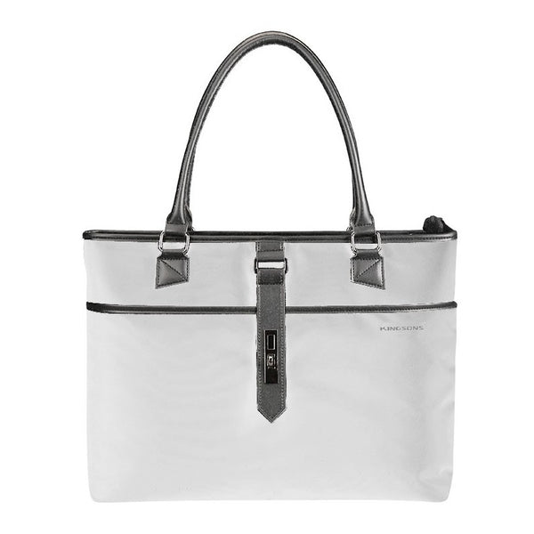 Kingsons Bella Series Ladies Laptop Shoulder Bag | Grey - KaryKase
