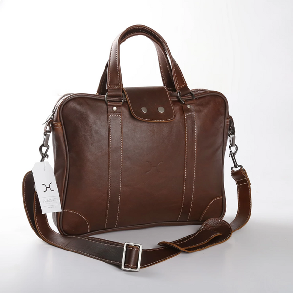 "Thandana 15"" Leather Laptop Bag - KaryKase"