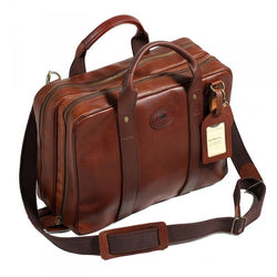 Melvill & Moon Leather Laptop Bag | Brown - KaryKase