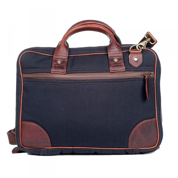 Melvill & Moon Canvas Laptop Bag | Black - KaryKase