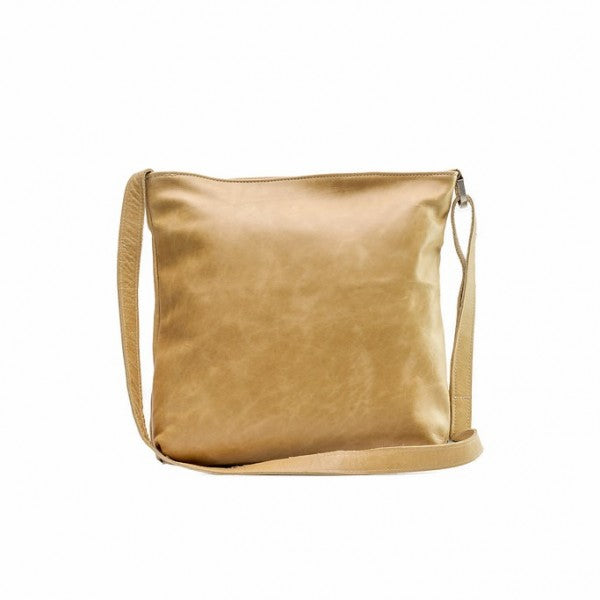 Emily Louise Large Leather Messenger Handbag | Hazelnut - KaryKase