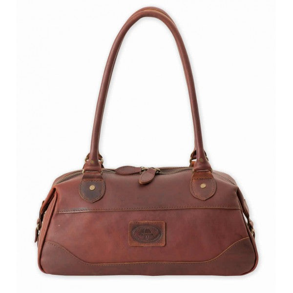 Melvill & Moon Leather Bowling Bag/Handbag | Brown - KaryKase