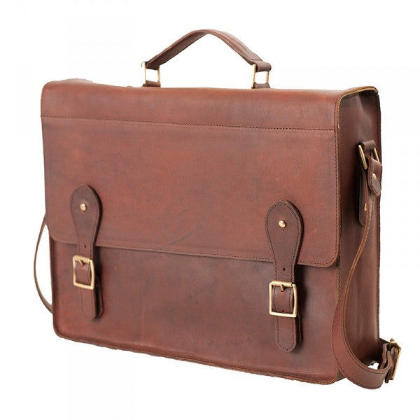 Melvill & Moon Leather Mombasa Mail Bag | Brown - KaryKase