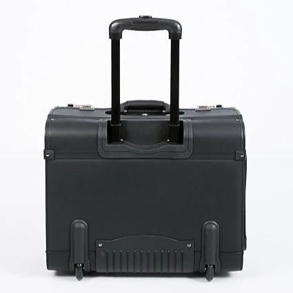Busby Leather Pilot Executive 2 Wheel Case | Black