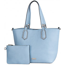 Pierre Cardin Lydia Studded Tote | Baby Blue - KaryKase