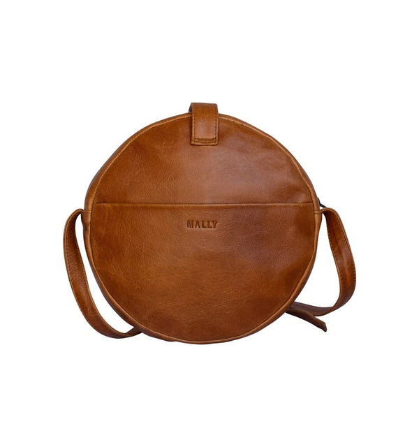 Mally Scarlett Leather Sling Bag | Toffee - KaryKase
