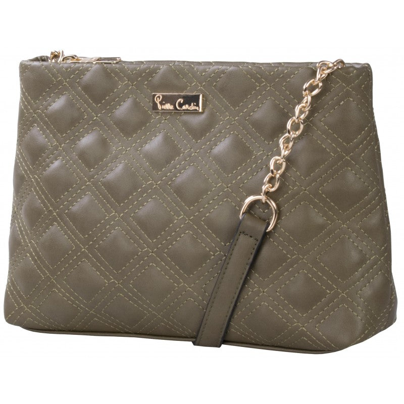 Pierre Cardin Megan Quilted Crossbody Bag | Olive - KaryKase