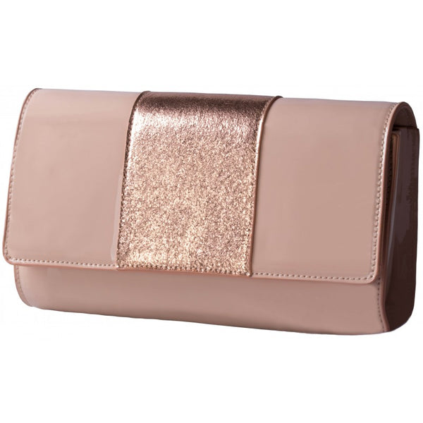 Pierre Cardin Mia Patent Evening Bag | Nude - KaryKase