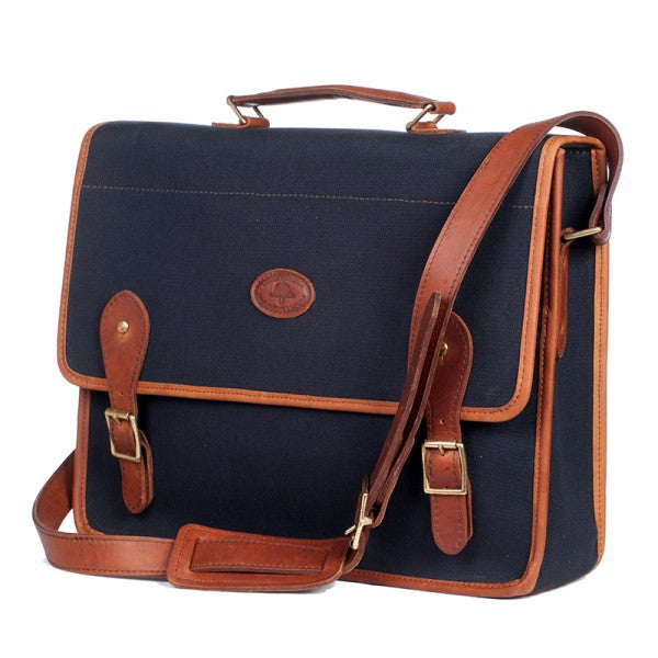 Melvill & Moon Canvas Mombasa Mail Bag | Black - KaryKase