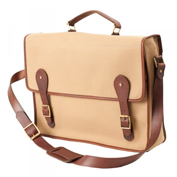 Melvill & Moon Canvas Mombasa Mail Bag | Khaki - KaryKase