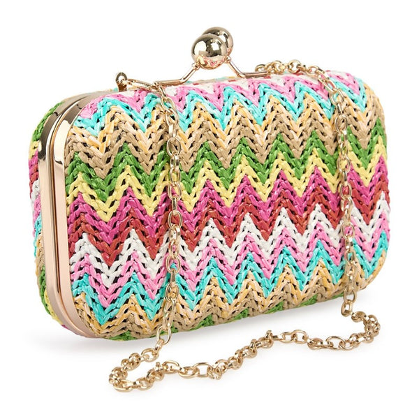 Tessa Design Clutch Bag | Multi Colour - KaryKase