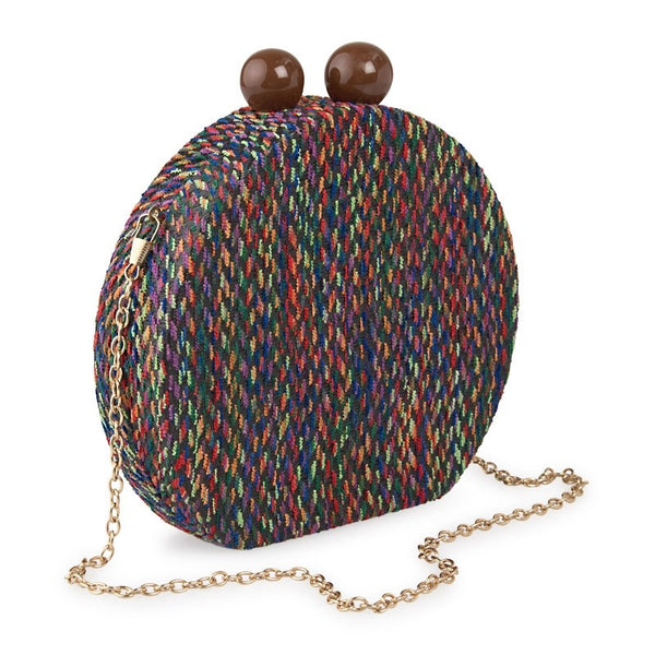 Tessa Design Round Bag | Multi Colour - KaryKase