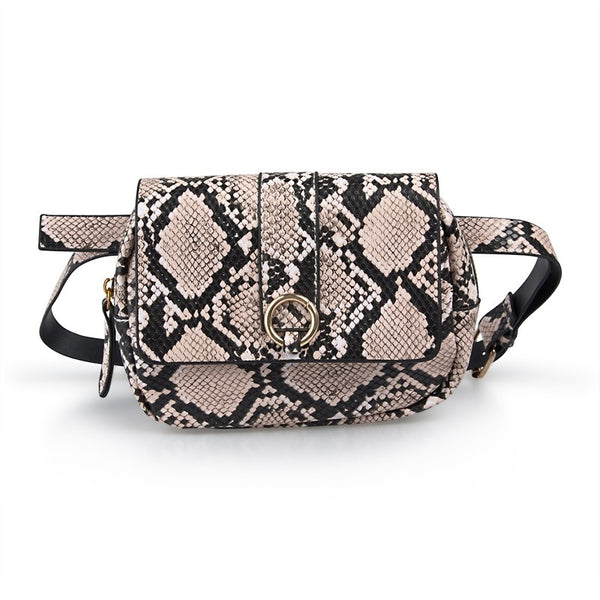 Tessa Design Snake Skin Waist Bag | Natural - KaryKase