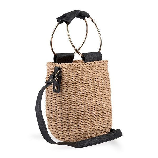 Tessa Design Weave Bag | Natural - KaryKase